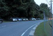 B地点の近くにある駐車場