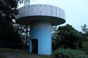 円柱刑をした展望台の外観