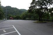 荘川桜の駐車場の様子