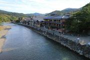 五十鈴川と古い町並み