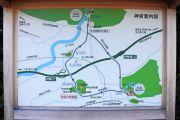 内宮と外宮の位置関係を示す地図