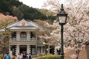 東山梨郡役所と桜