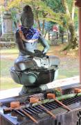 手水舎と仏像
