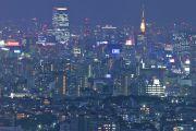スカイタワー展望台からの夜景