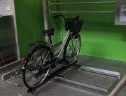自転車とスタンド