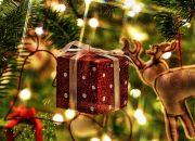クリスマスプレゼントとトナカイの飾り