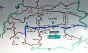 面ノ木ビジターセンター周辺の地図
