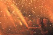手力の火祭りの様子
