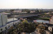 清州城天守閣から望む東海道本線