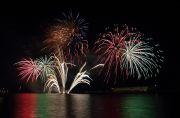 太平洋沿岸から打ち上げられる花火
