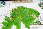 金華山登山道の地図